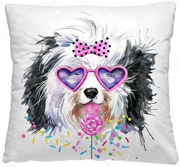 Подушка декоративная Волшебная ночь «Мега пес в очках»