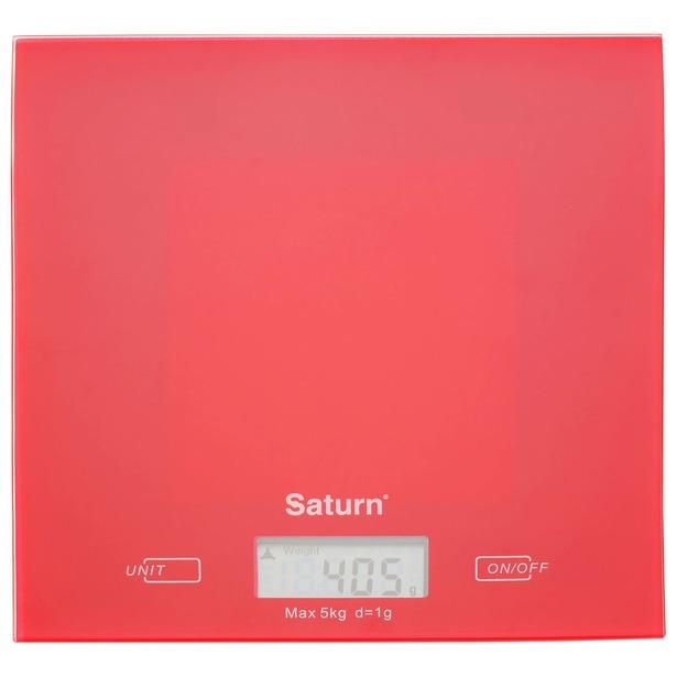 фото Весы кухонные Saturn ST-KS 7810. Цвет: красный