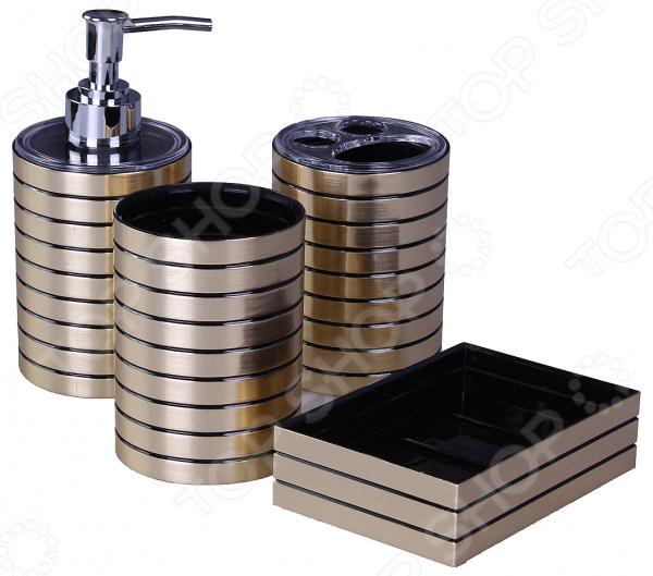 Набор аксессуаров для ванной комнаты Patricia «Полоска» аксессуары для ванной комнаты в москве