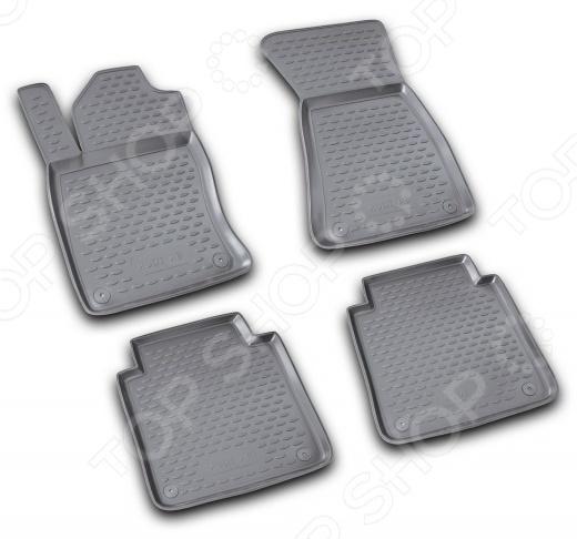 Комплект ковриков в салон автомобиля Novline-Autofamily Audi A8 Long 2002-2009 коврики в салон novline citroen c3 2002 2009 полиуретан carcrn00009