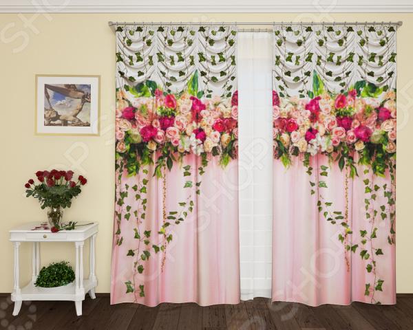 Фотошторы с кулиской ТамиТекс «Счастье роз» шторы stickbutik фотошторы театральный занавес