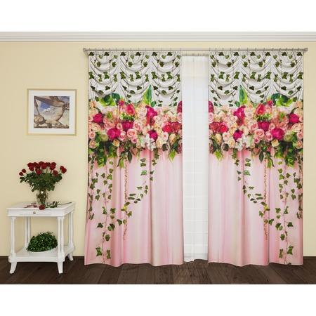 Купить Фотошторы с кулиской ТамиТекс «Счастье роз»