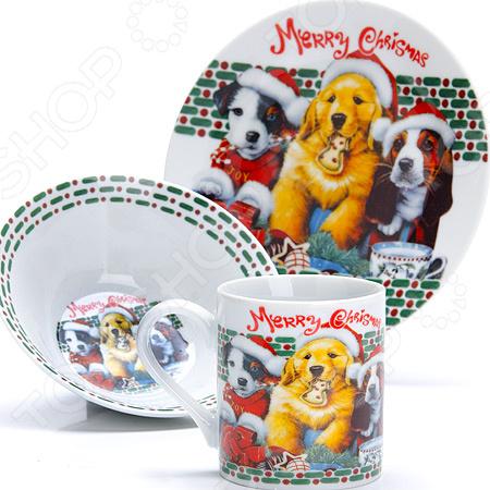 Набор посуды для детей LR-27116«Собачка»