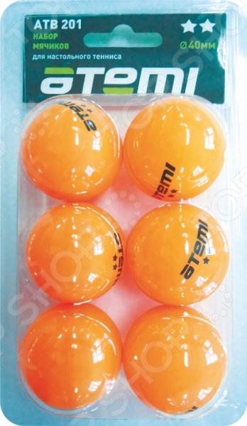 Мячи для настольного тенниса Atemi ATB201 мячи для настольного тенниса double fish 2 star