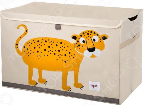 Сундук для хранения игрушек 3 Sprouts «Леопард»