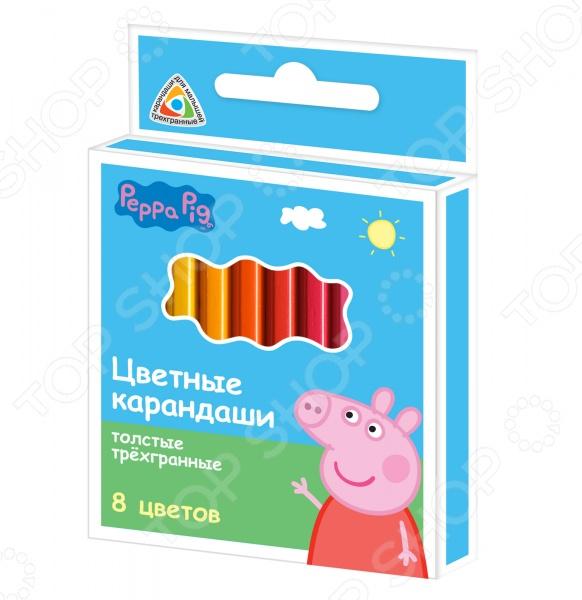 Набор коротких цветных карандашей Peppa Pig «Свинка Пеппа»: 8 цветов