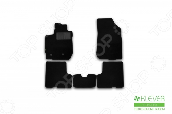 Комплект ковриков в салон автомобиля Klever Renault Duster 2WD / 4WD 2015 Standard с/р коврики в салон автомобиля klever standard для ford focus 2 2004 седан 4 шт