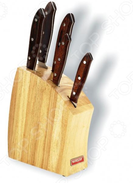 Набор ножей Vitesse Calantha нож страйт сталь 65х13