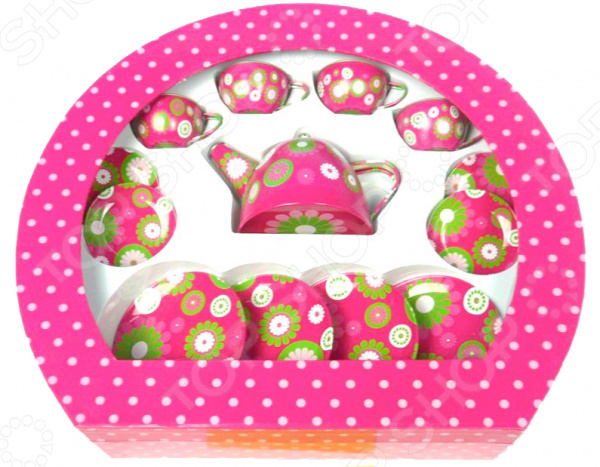 Набор посуды игрушечный 1 Toy «Чайный сервиз» creative набор для творчества украшаем чайный сервиз