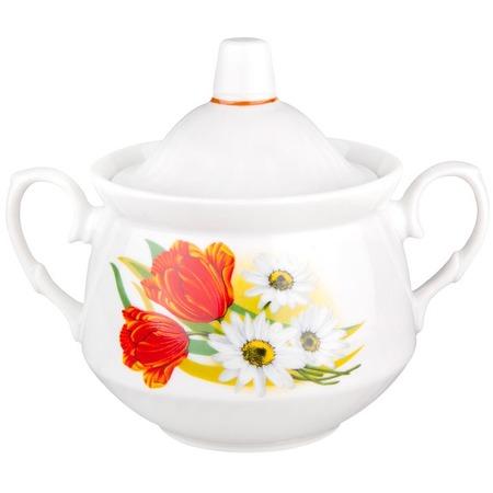 Купить Сахарница ДФЗ «Ромашка с тюльпаном»