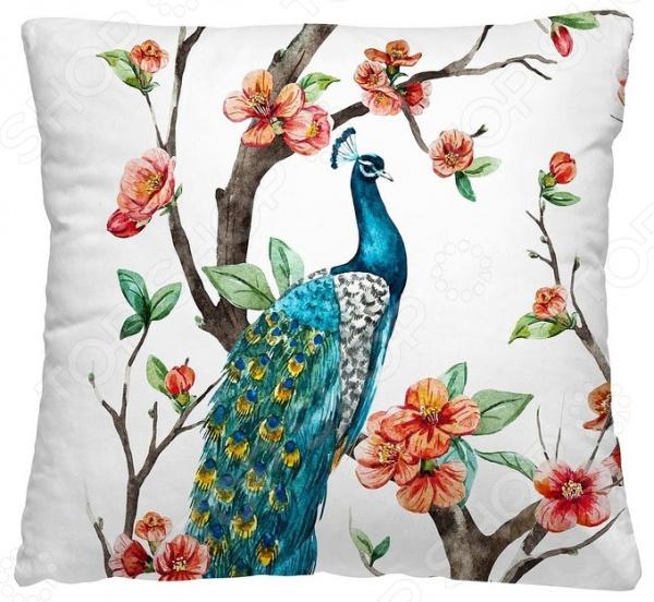 Подушка декоративная Волшебная ночь «Павлин»