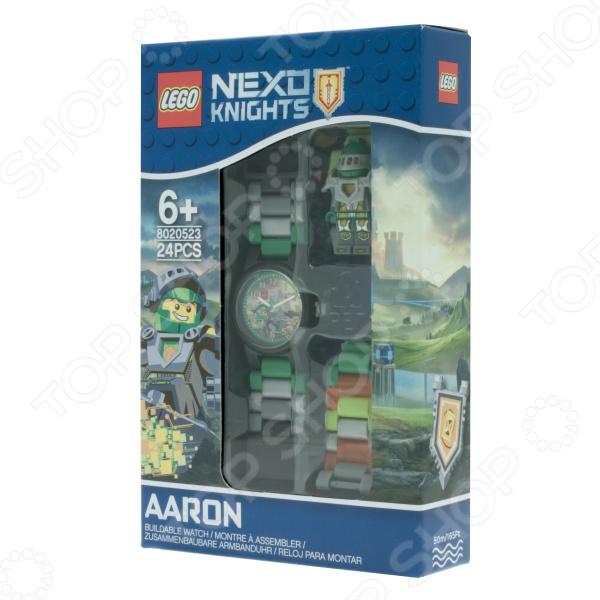 Часы наручные детские LEGO с минифигурой Aaron на ремешке часы наручные lego часы наручные аналоговые lego star wars с минифигурой darth vader на ремешке