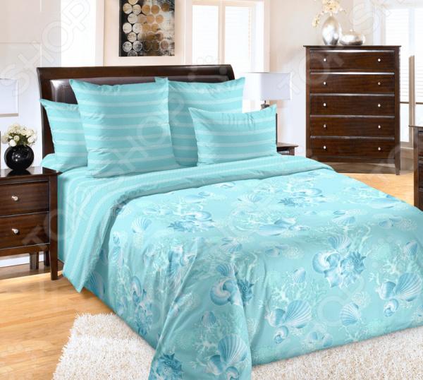 цена Комплект постельного белья ТексДизайн «Морская прогулка» онлайн в 2017 году