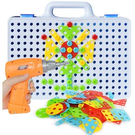 Купить Конструктор-мозаика с шуруповертом Ricotio Magic Plate Puzzle