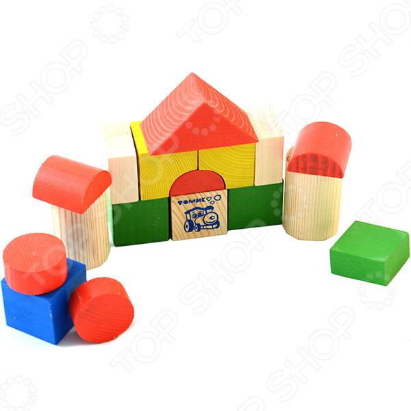 Конструктор деревянный Томик «Цветной» сувенир ohmypeter значок деревянный цветной peter hi в блистере omp40081
