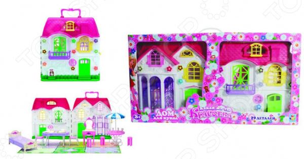Дом для кукол с мебелью 1 Toy Т56586 1 toy кукольный домик красотка колокольчик с мебелью 29 деталей