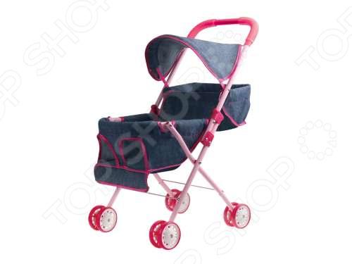 Коляска для кукол 1 Toy с капюшоном для 2х кукол «Красотка-Джинс» коляски для кукол 1 toy красотка t58754