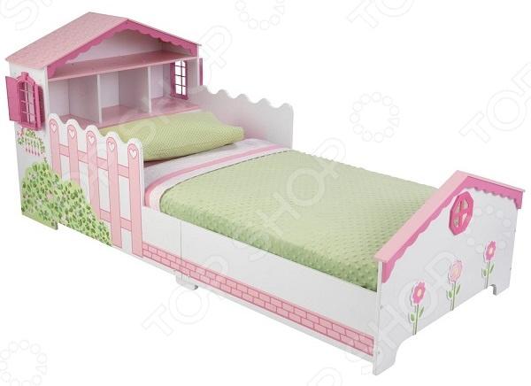 Кроватка детская KidKraft с полочками «Кукольный домик»
