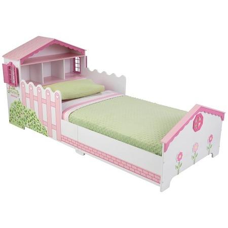 Купить Кроватка детская KidKraft с полочками «Кукольный домик»
