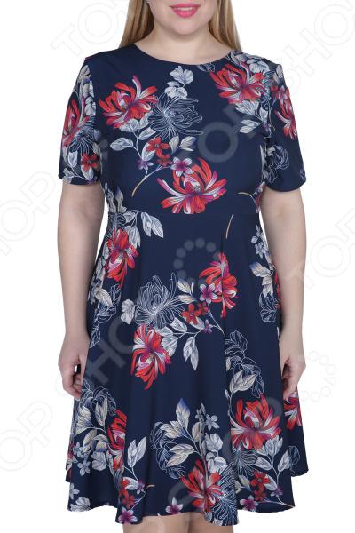 Платье ТРЕНД «Нежная особа». Цвет: синий, красный платье тренд стильный силуэт цвет бордовый