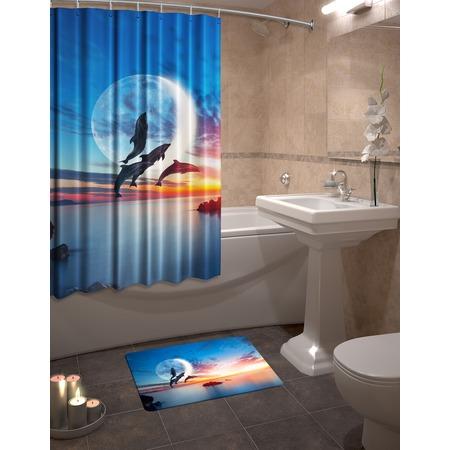 Купить Набор для ванной комнаты: шторка и коврик ТамиТекс «Фауна»