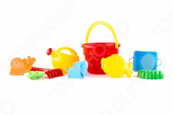 Набор для игры в песочнице Пластмастер «Песочница» 4м фигурки из формочки грузовики