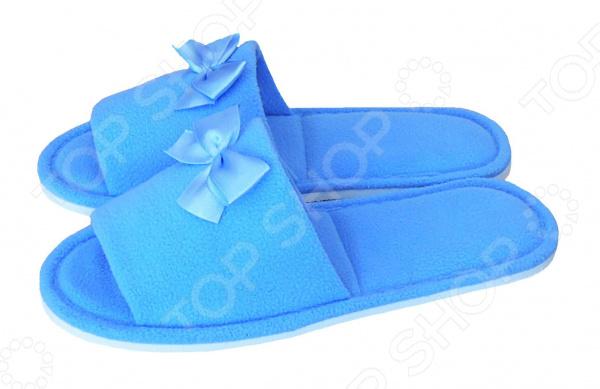 Тапочки с открытым носком Dream Time SL-158. Цвет: голубой