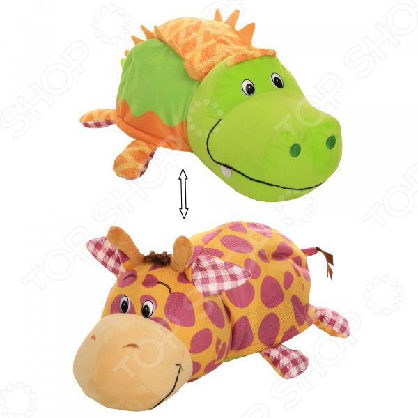 Мягкая игрушка ароматизированная 1 Toy большая «Вывернушка 2в1: Крокодил-Жираф»