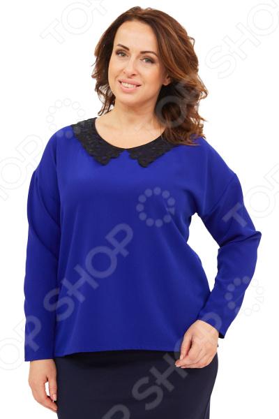 Блуза Элеганс «Стефани». Цвет: васильковый