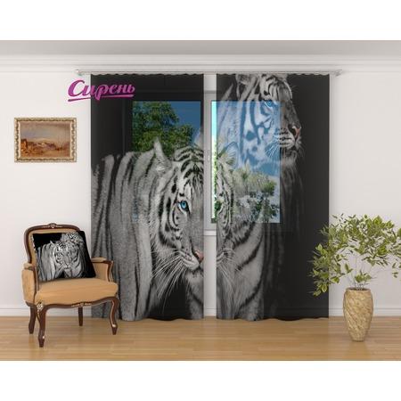 Купить Фототюль Сирень «Два тигра»