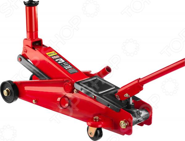 Домкрат гидравлический подкатной Stayer RED FORCE для внедорожников гидравлический домкрат autoluxe подкатной грузоподъемность до 3 тонн красный