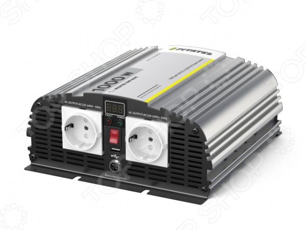 Инвертор автомобильный Pitatel KV-M1000DRU.24 автоинвертор pitatel kv m300u 24