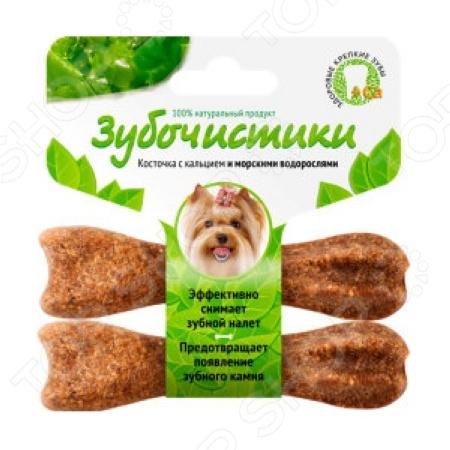 Лакомство жевательное для собак мелких пород «Зубочистики. Косточка с кальцием и морскими водорослями». Количество: 2 предмета 37841