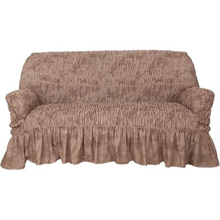 Купить Натяжной чехол на трехместный диван Еврочехол «Фантазия. Шоколад»