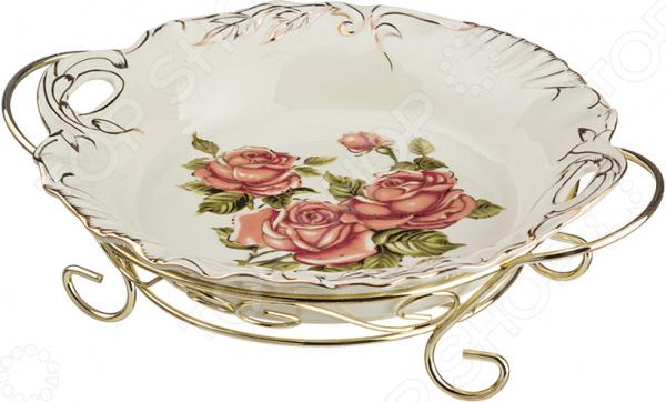 Блюдо на подставке Lefard «Корейская роза» 126-528 менажница lefard корейская роза 126 549