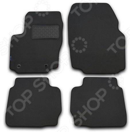 Комплект ковриков в салон автомобиля Autofamily Jeep Compass 2011 внедорожник. Цвет: серый