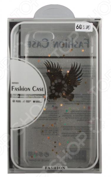 Чехол для iPhone 6/6S Plus с блестками «Орел»