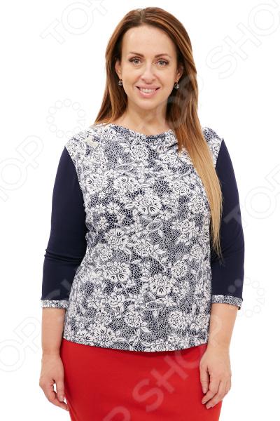 Блуза Лауме-Лайн «Моя голубка». Цвет: белый блуза лауме лайн шикарный букет цвет розовый