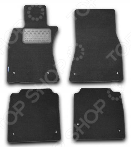 комплект ковриков в салон автомобиля novline autofamily lexus lx 470 1998 2007 внедорожник цвет черный Комплект ковриков в салон автомобиля Novline-Autofamily Lexus LS 600hL 2007 седан. Цвет: черный