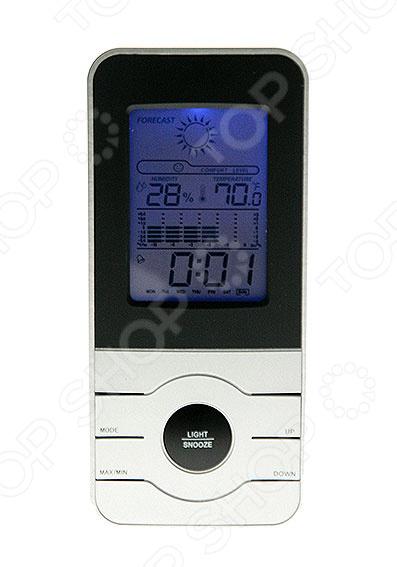 Метеостанция 48103 электронный прибор, который фиксирует погодные условия и выводит показатели на дисплей. Он не только измеряет, но и просчитывает для вас прогноз погоды на ближайшее время. В каждой электронной метеостанции есть цифровой датчик, с помощью которого происходит измерение погодных показателей. Домашняя метеостанция это современный многофункциональный прибор, который не только украсит ваш стол, но и принесет несомненную пользу. Устройство пользуется особой популярностью среди людей, страдающих от резких изменений атмосферного давления. Метеостанция поможет проследить за перепадами давления и вовремя принять меры по улучшению самочувствия. Данная модель формой напоминает мобильный телефон. Данные на дисплее подсвечиваются голубой подсветкой, а управление происходит путем нажатия кнопок. Прибор регистрирует температурные показатели и выводит их на экран. Также, в систему метеостанции встроены программа часов, календаря и гигрометра. Для большей продуктивности добавлена функция будильника, которая не позволит вам проспать в ответственный момент. Электронная метеостанция проста в уходе и питается от батареек типа ААА. Прибор станет не только оригинальным, но и полезным подарком, который порадует своего владельца.
