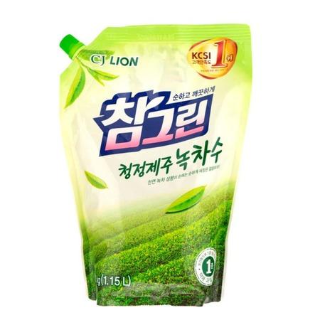 Купить Средство для мытья посуды CJ Lion Chamgreen «Зеленый чай». В мягкой упаковке