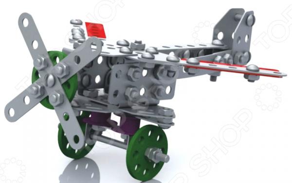 Конструктор металлический Десятое королевство «Самолет с подвижными деталями» десятое королевство с рисунком танцующие мыши 01565дк