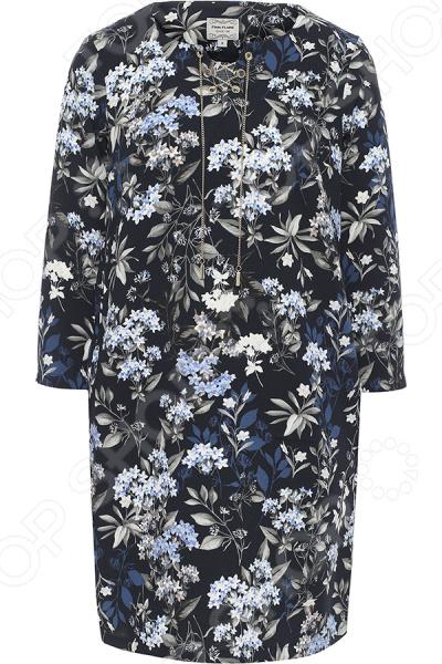 Платье Finn Flare B17-11074. Цвет: темно-синий