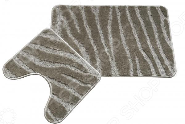 Комплект ковриков для ванной и туалета Cleopatra «Фремонт». Рисунок: линии