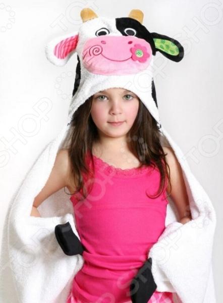 Полотенце с капюшоном Zoocchini «Корова Кейси»
