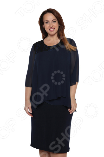 Платье Лауме-Лайн «Модный образ». Цвет: темно-синий платье лауме стиль райский сад цвет синий