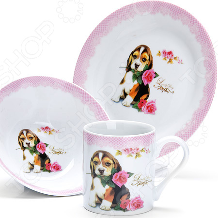 Набор посуды для детей Loraine LR-27127 «Собачка»