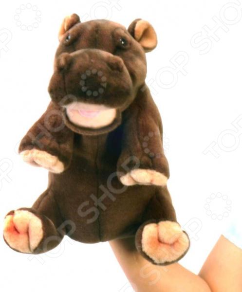 Мягкая игрушка на руку Hansa «Гиппопотам»
