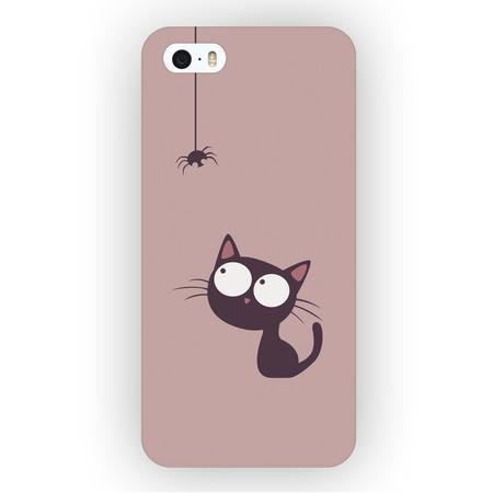 Чехол для iPhone 5 Mitya Veselkov «Кошка и Паучок»