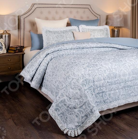 Комплект для спальни: покрывало и наволочки Santalino «Луара». Цвет: голубой